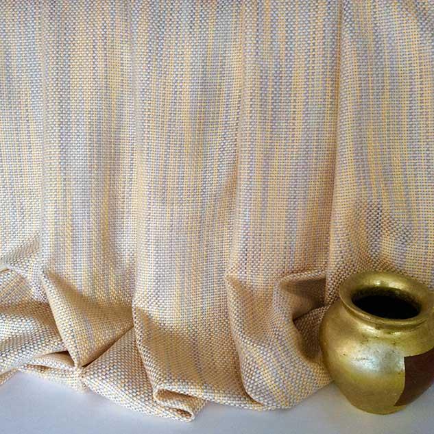 Tissu tweed jaune et blanc
