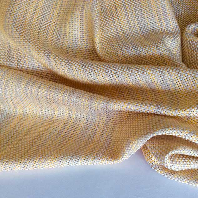 tweed jaune orangé et blanc