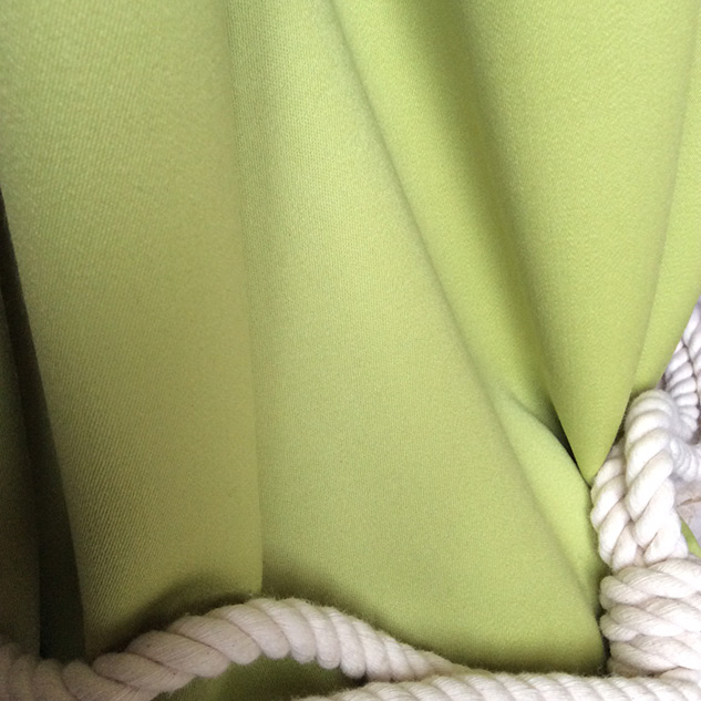 tissu pour rideaux vert anis