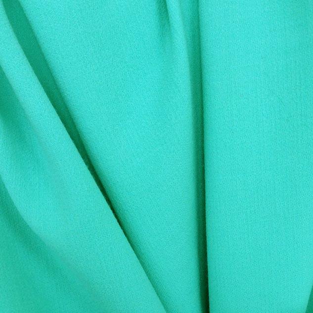Tissu crepe de laine vert