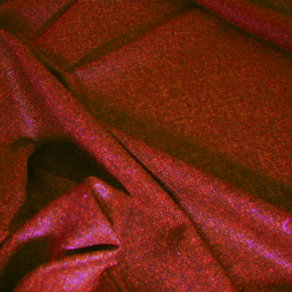 Tissu flanelle de laine chiné rouge