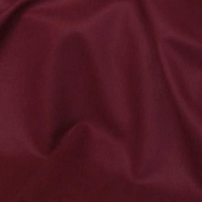 Tissu habillement polyester laine extensible uni bordeaux pour jupes, pantalons, robes