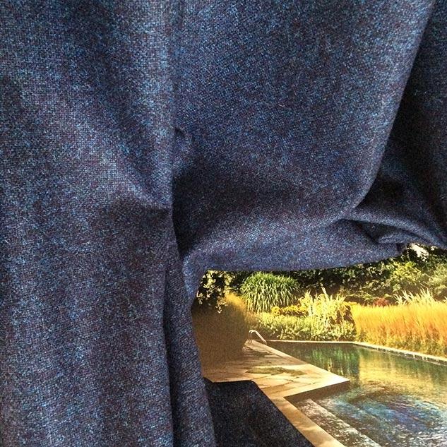 tissu bleu  tissus ameublement