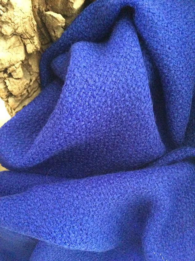 Tissu bouclette bleu