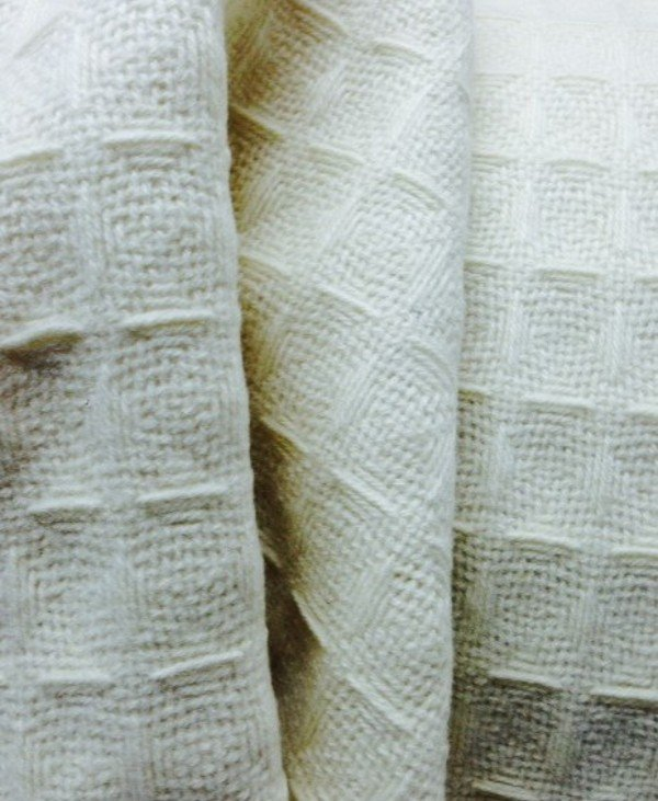 Tissu cachemire en nid d'abeilles géants
