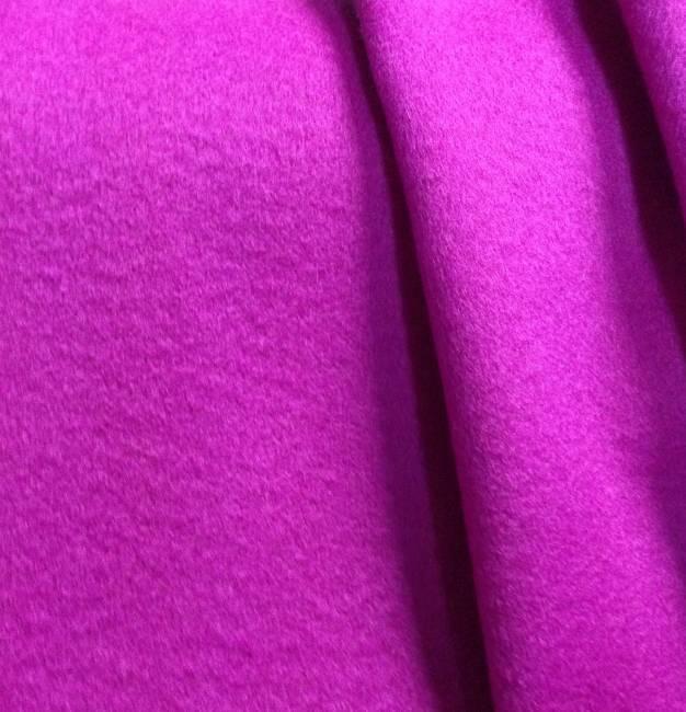 Drap de laine cachemire tissu ameublement fushia