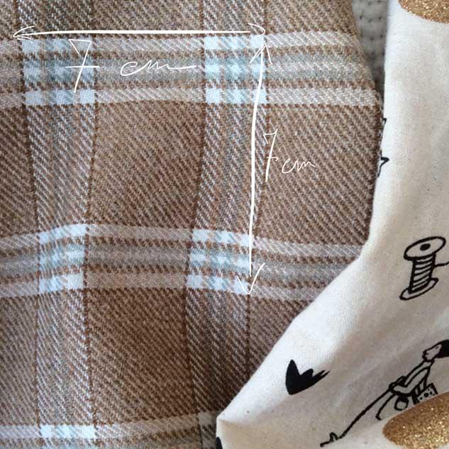 tissu laine à carreau cardailhac