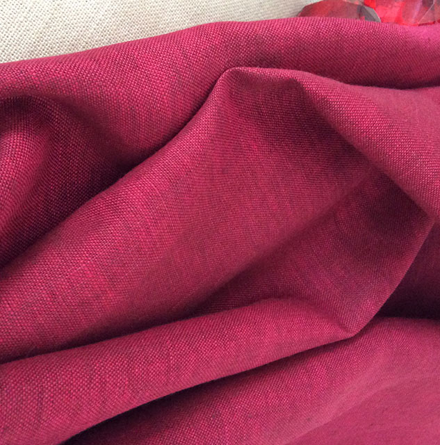 tissu fuchsia en lin