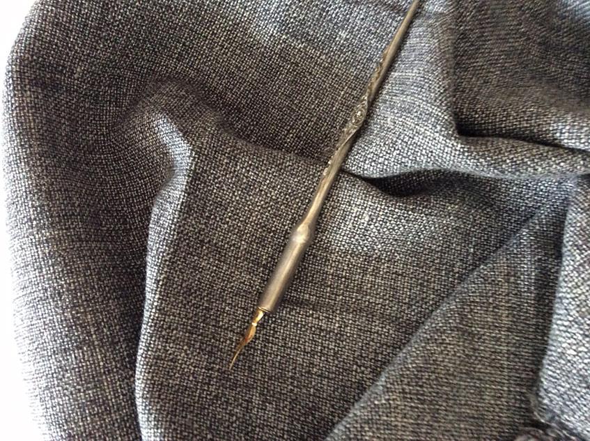 Tissu décoration gris