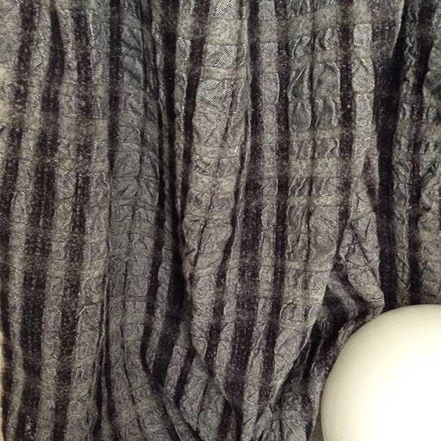 tissu noir et blanc en laine polyester