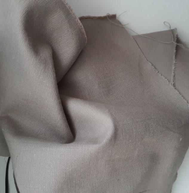 tissu coton toile taupe