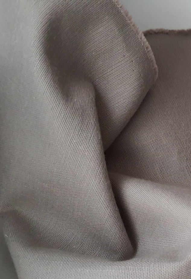 tissu coton toile gris