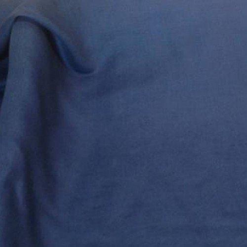 Voilage au mètre de tissu lin bleu  tissu ameublement