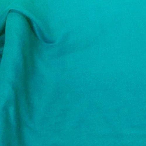 Tissu coton voile turquoise
