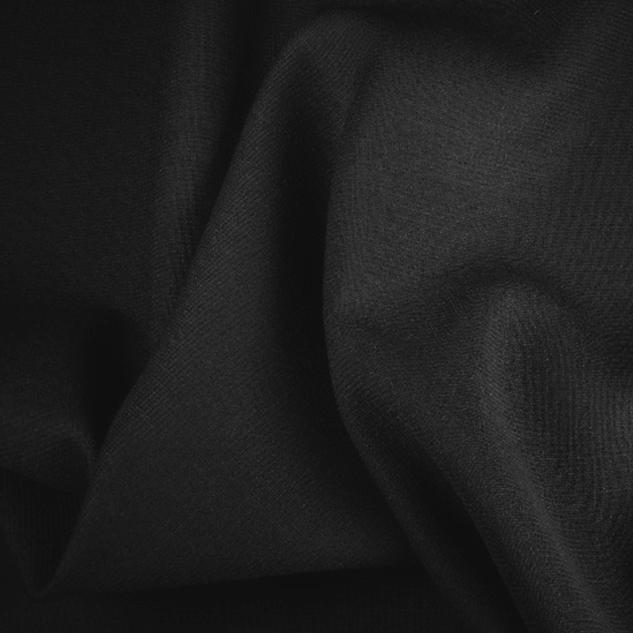 tissu crepe de laine noir