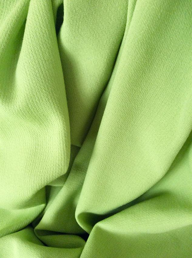 tissu vert crepe de laine