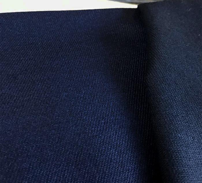 Drap de laine sergé bleu