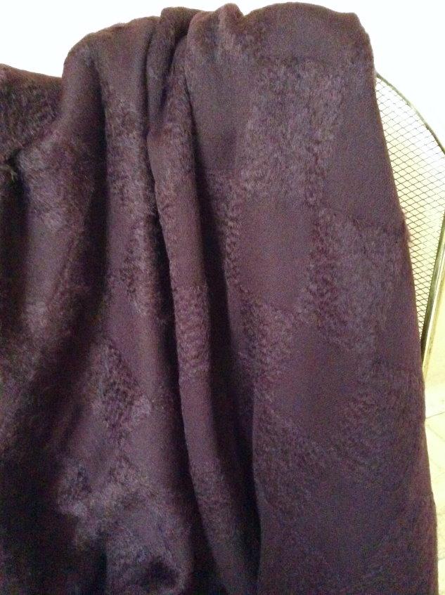 Tissu damier violet aubergine