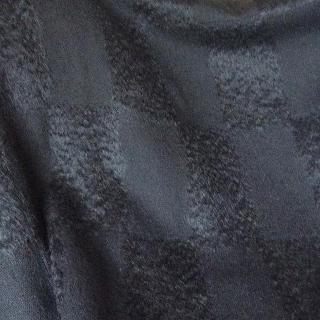 Tissu damier noir