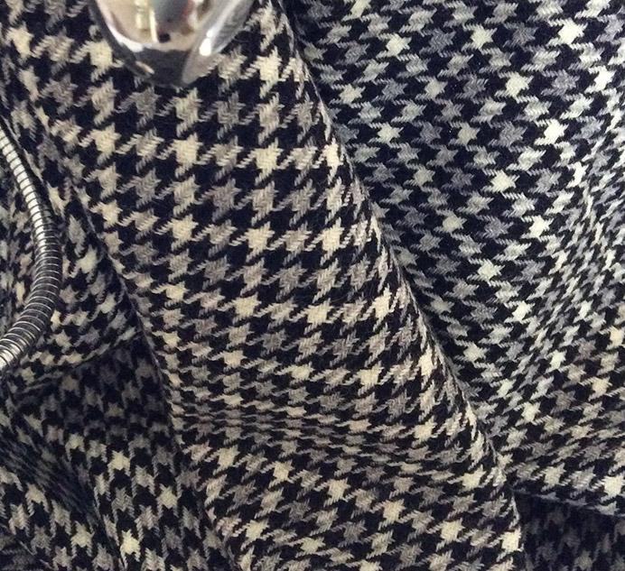 pied de poule gris et noir