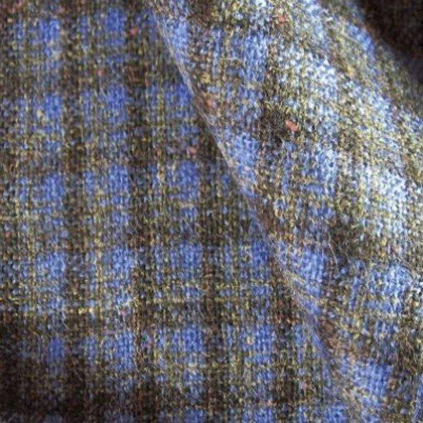 Tissu laine à carreaux