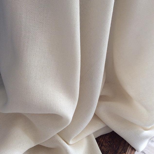 tissu laine écru