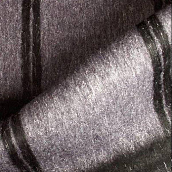 Tissu laine grand carreaux noir sur fond violet