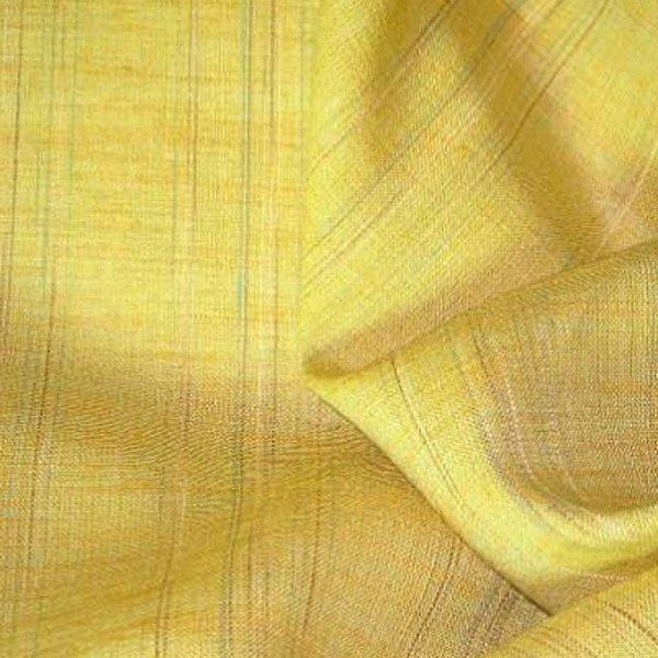 Tissu lin à rayures jaune