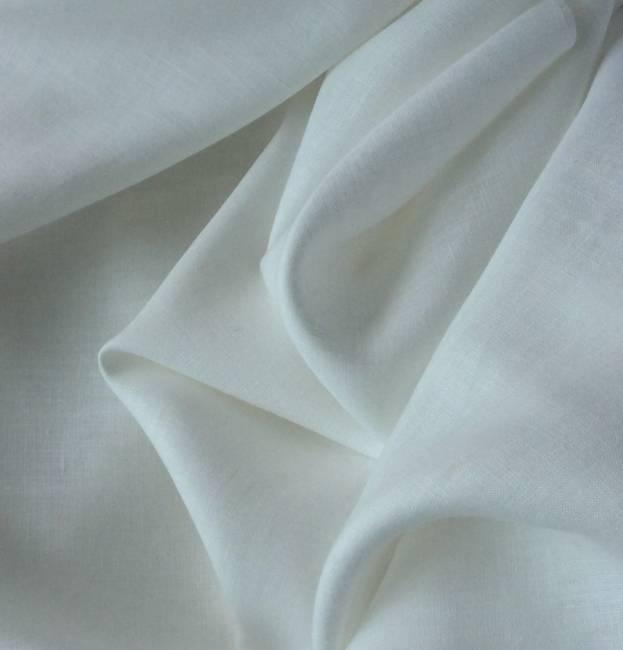 Tissu en lin blanc