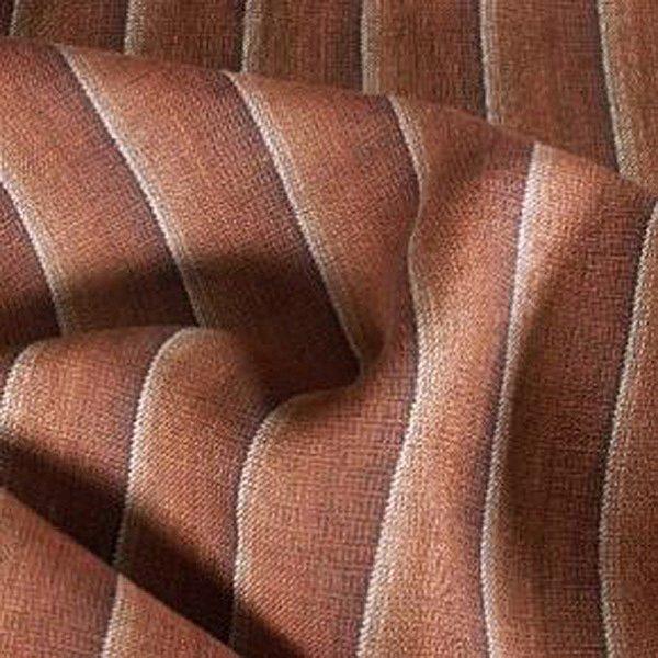 Tissu lin cuivre à rayures