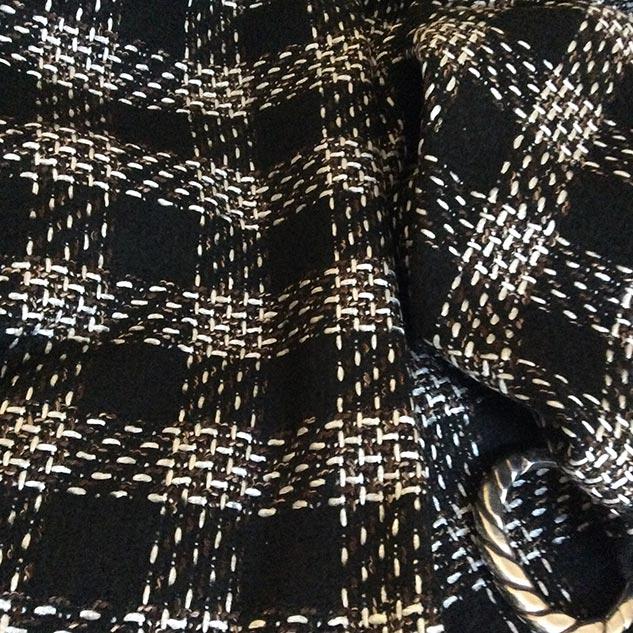 tissu pour veste noir