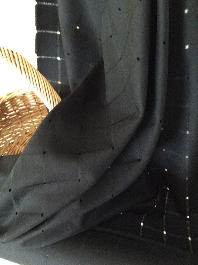 flanelle de laine noire