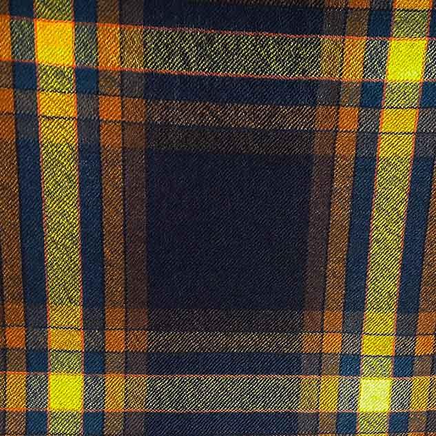 Tissu écossais de laine marine