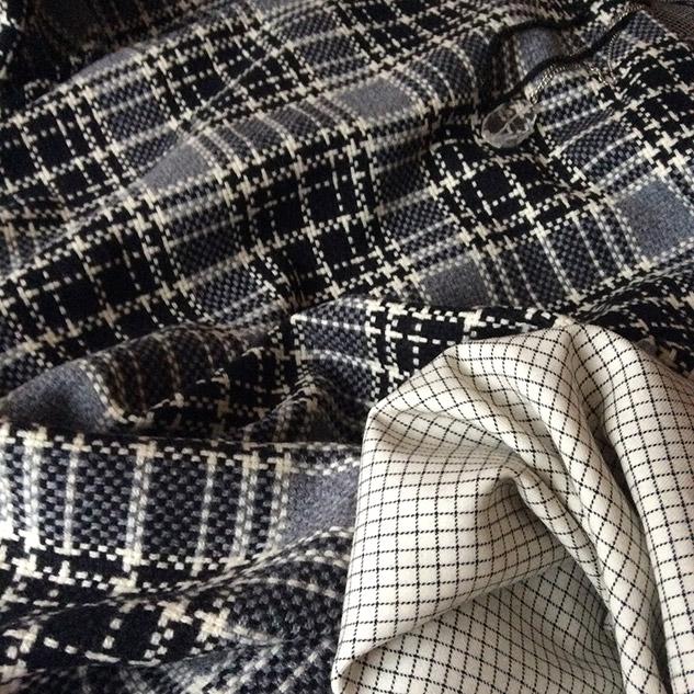 tissu manteau écossais