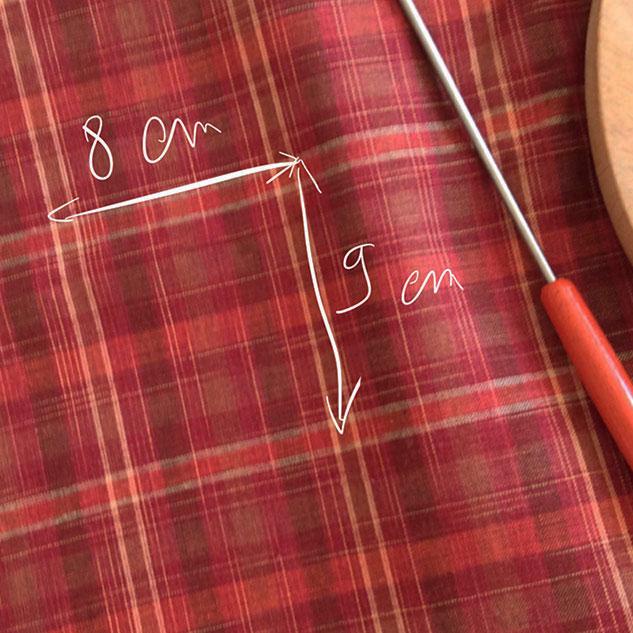 tissu écossais en lin