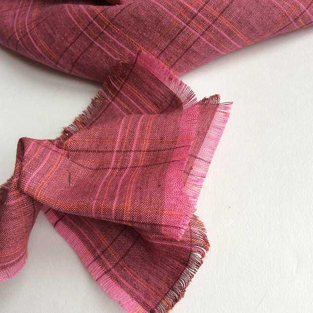 Tissu ecossais tissu ameublement rose