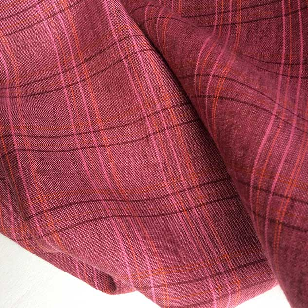 Tissu ecossais rose framboise tissu rideau