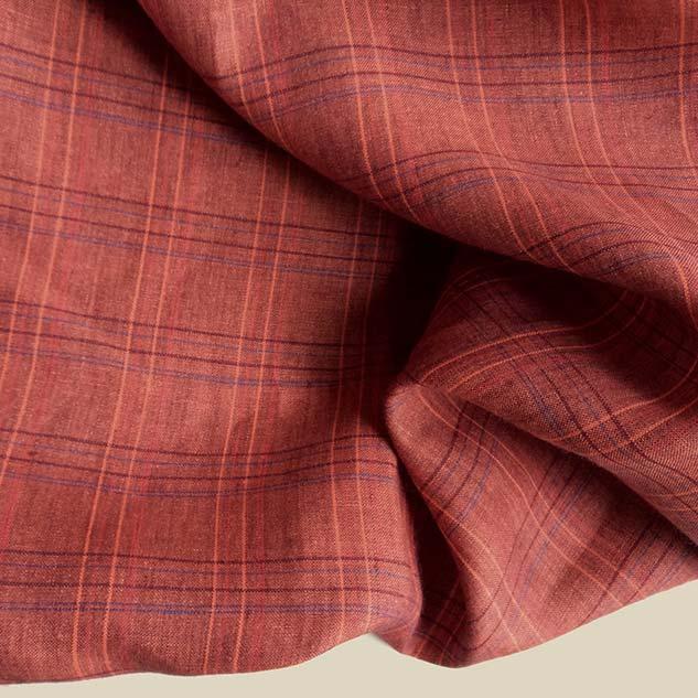 Tissu ecossais tissu rouge grenade