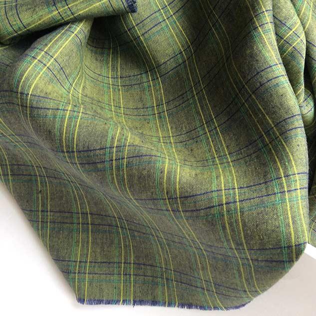 Tissu ecossais vert