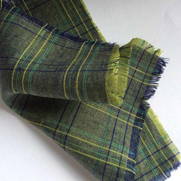 Tissu ecossais vert ameublement