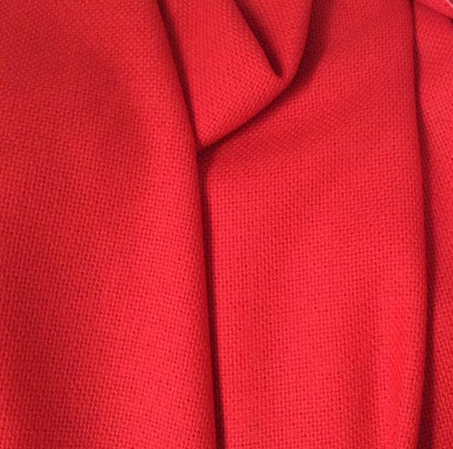 tissu tweed rouge pour rideaux