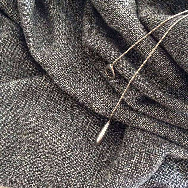 tissu couture gris