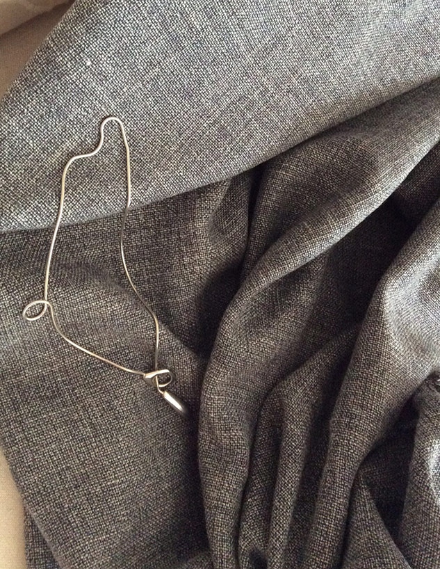 Tissu gris tweed d'été