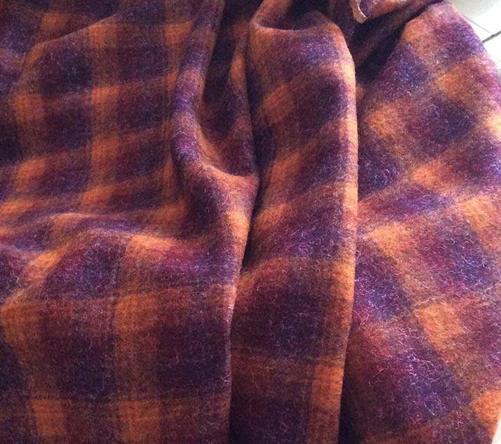 tissu écossais pour veste