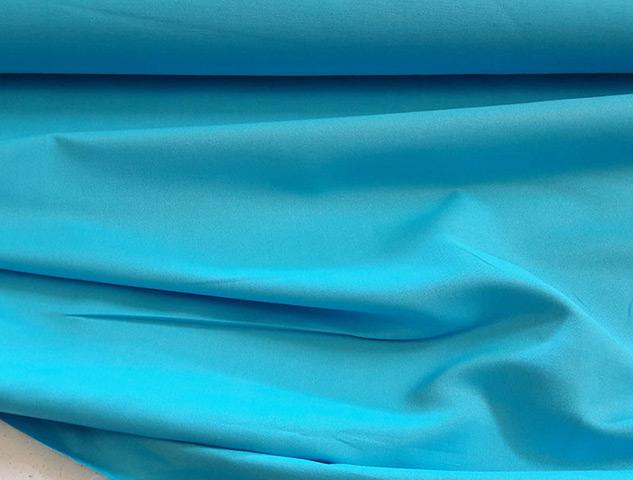 tissu turquoise coton lin