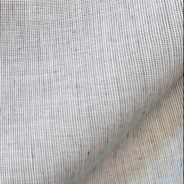 Tissu en lin et coton tissu au metre blanc/noir