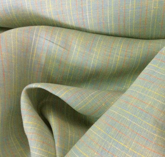 Tissu en lin jaune reflet délavé