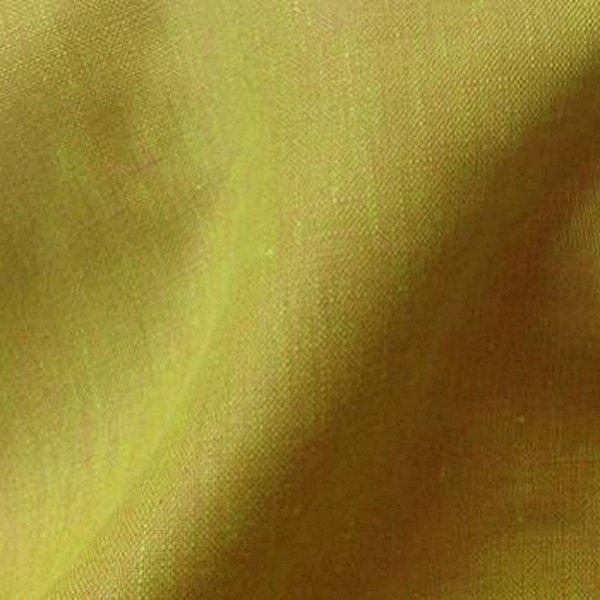 Tissu ameublement rideau lin changeant anis/orange