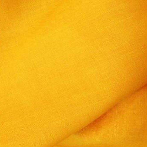 Tissu en toile de lin jaune