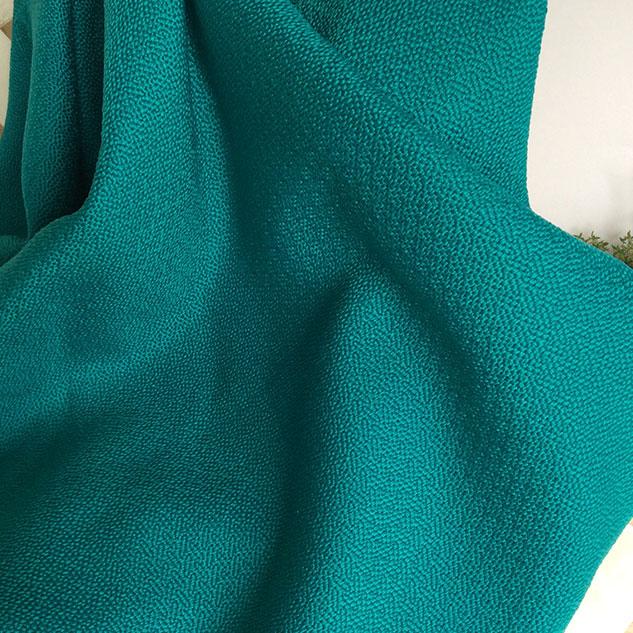Tissu polypropylène cannage turquoise